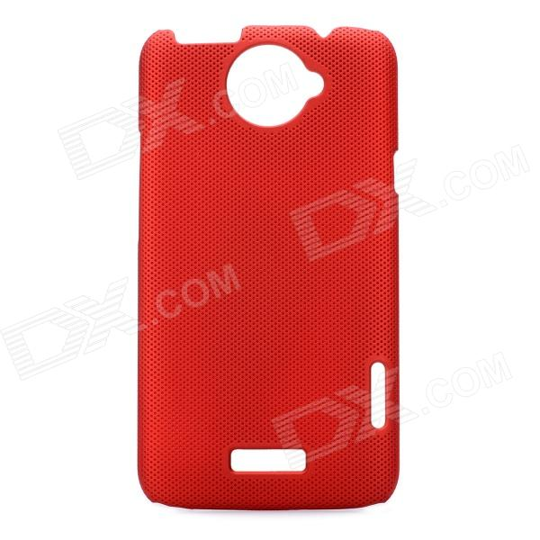 Stylish Mesh Style Protective Back Case for HTC One X S720e - Red matte protective pe back case for htc one x s720e deep pink