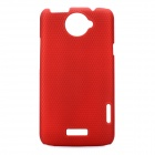 Stylish Mesh Style Protective Back Case for HTC One X S720e - Red