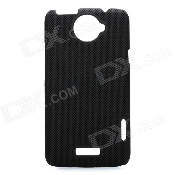 Mesh Style Protective Back Case for HTC One X S720e - Black matte protective pe back case for htc one x s720e deep pink