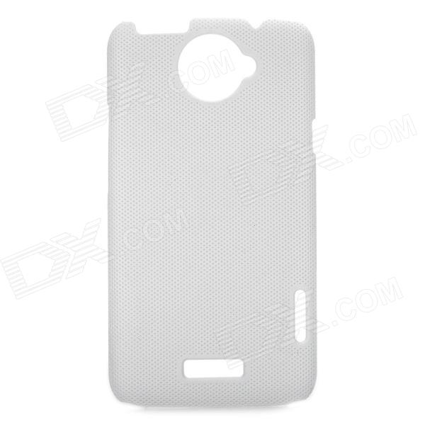 Stylish Mesh Style Protective Back Case for HTC One X S720e - White matte protective pe back case for htc one x s720e deep pink