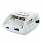 Universal Travel Battery Charger Charging Adapter 1500mAh Power Bank for Cell Phone / Camera - White
