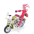 Creative Handcraft Harley Style Motorcycle Model w/ Robot - Green + Red