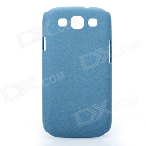 Protective Carbon Fiber Case w/ Screen Protector for Samsung i9300 Galaxy S3 - Blue