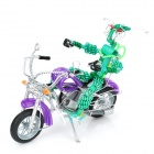 Creative Handcraft Harley Style Motorcycle Model w/ Robot - Purple + Green