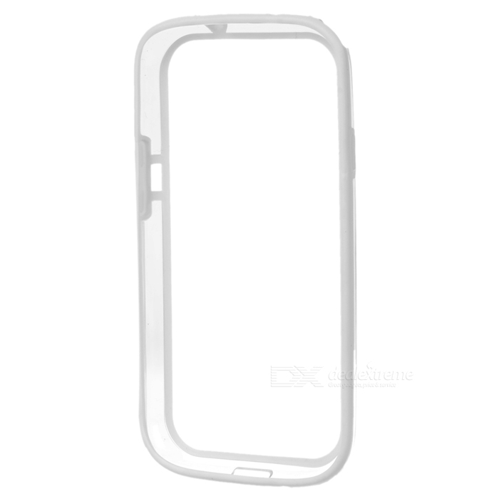 Protective Bumper Frame for Samsung Galaxy S3 i9300 - White hot protective tpu pvc bumper frame case for samsung galaxy s 3 i9300 white black