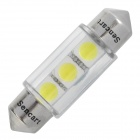 Festoon 36mm 0.75W 3x5050 SMD White Light Car Reading / License Plate Lamp (12V)