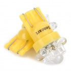 T10 0.5W 5-LED Yellow Light Car Decorative / Reading / Clearance Lamp (12V / 2-Piece)