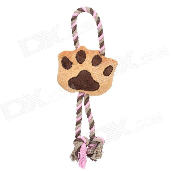 Cute Molar Footprints Knot Pet Toys for Dogs + Cats - Brown