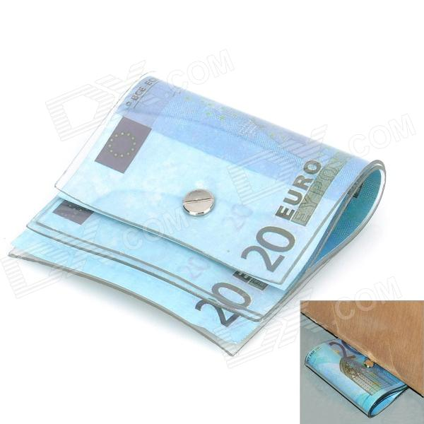 20 EURO Pattern Money Door Stopper - Blue creative 100 euro note style door stopper guard green white