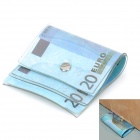 20 EURO Pattern Money Door Stopper - Blue