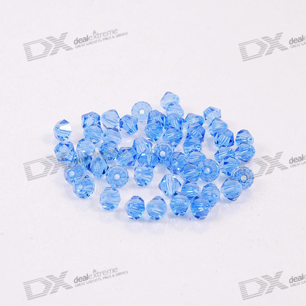 Austria Ornamental DIY Crystal Beads Blue (50-Pack)