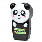 Cute Kung Fu Panda Style Handy Air-Condition Fan - Black + White (4 x AAA)
