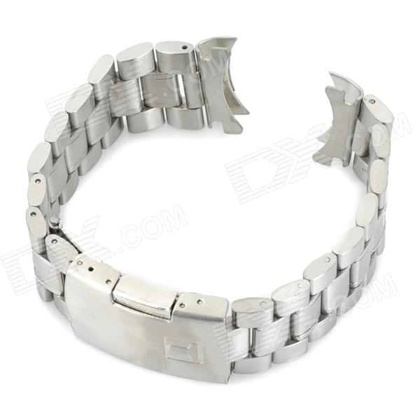 Replacement QGY-06 Stylish Steel Wrist Watch Band - Silver