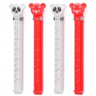 Cute Cartoon Bag Sealing Clip Clamp w/ Fresh Date + Month - White + Red (4-Piece Pack)