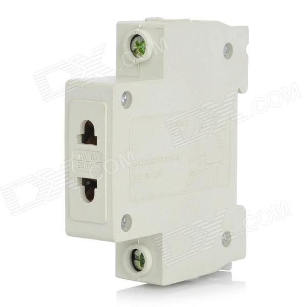 2-Hole Power Socket for Industry Device - White (250V/10~16A)