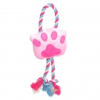 Cut Molar Footprints Knot Pet Toys for Dogs + Cats - Pink