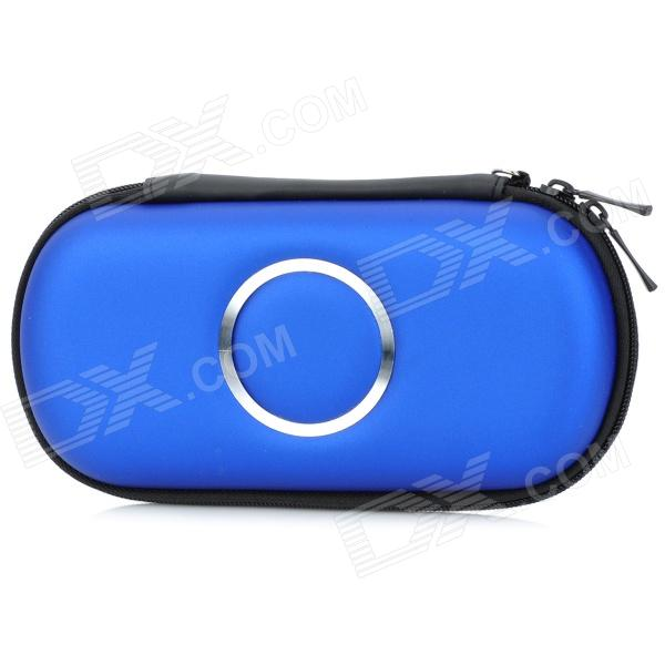 Protective Hard Artificial Leather Pouch Case for PSP 1000 / 2000 / 3000 - Dark Blue black horns колонки для sony psp 2000 3000