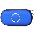 Protective Hard Artificial Leather Pouch Case for PSP 1000 / 2000 / 3000 - Dark Blue