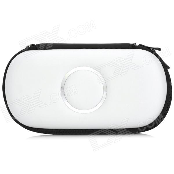 Protective Hard Artificial Leather Pouch Case for PSP 1000 / 2000 / 3000 - White виниловая пленка psp 2000 cg