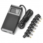 "Universal 2.0"" LCD AC Power Adapter Charger for Laptop Notebook - Black + Grey (8 Connectors)"
