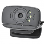 Mini USB 2.0 300KP Webcam w/ Microphone / 3.5mm Plug - Black (125cm-Cable)