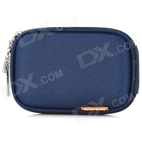 Stylish Protective Case Bag with Carabineer Clip for Digital Camera - Dark Blue