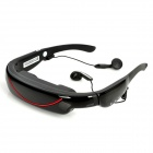 Rechargeable 72' Virtual Screen Video Player Glasses w/ TF / AV-In / 2.5mm Jacks - Black (4GB)