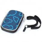 Fashion Protective Case Bag with Lanyard for Digital Camera - Blue