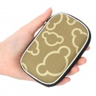 Fashion Protective Case Bag with Lanyard for Digital Camera - Yellow + Army Green