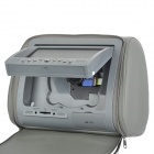 "NST-701F Car Headrest 7"" LCD DVD Media Player w/ Speakers / MMC / MS / SD Slot - Grey"