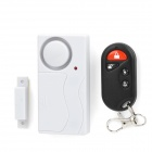 Remote Control Window + Door Anti-Theft Security Alarm - White (2 x AAA)