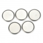 GOLITE Replacement 100mAh 3V CR2016 Button Battery - Silver (5-Piece Pack)
