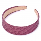 Stylish Stone Pattern PU + PVC Headband - Purple