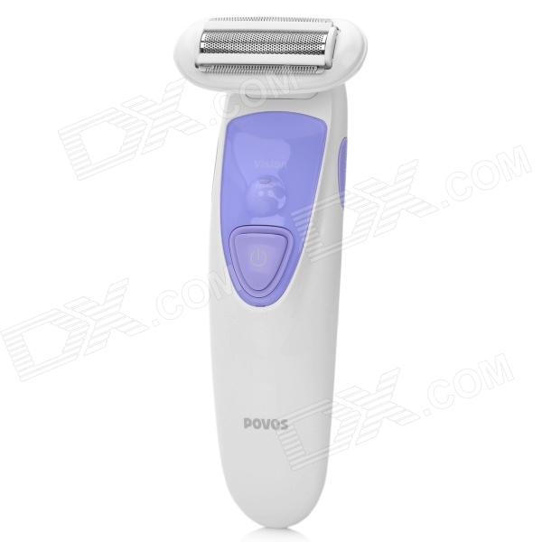 POVOS PS1086 Lady's Personal Care Rechargeable Single Blade Reciprocating Electric Shaver Razor