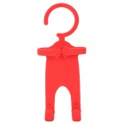 Funny Flexible Plastic Hanger Stand Holder for iPhone 4 / iPhone 4S / Cell Phone - Red