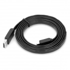 USB 2.0 Male to Micro USB Male Data / Charging Cable - Black