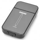 POVOS PS3306 Rechargeable Touch Screen Single Blade Rotating Electric Shaver Razor - Black