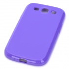 Stylish Protective TPU Back Case for Samsung Galaxy S3 i9300 - Purple