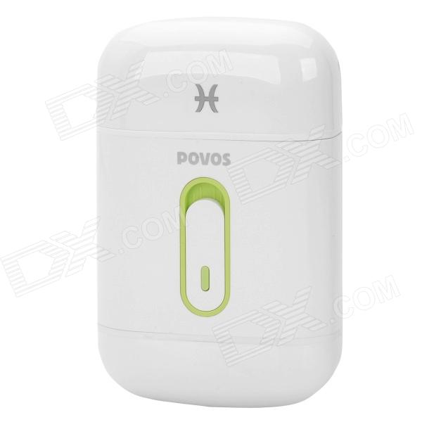 POVOS PW801 Single Blade Reciprocating Electric Shaver Razor - White (2 x AA)