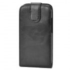 Chic Protective Top Flip-Open PU Leather Case for HTC One X - Black
