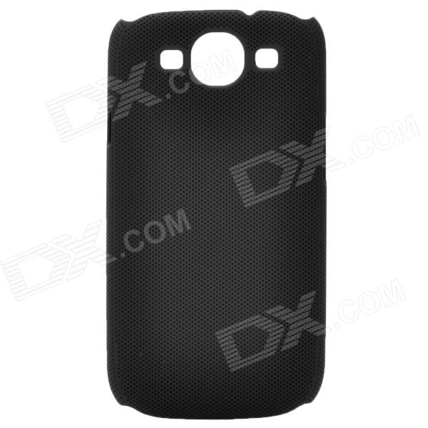 Fashion Pinhole Pattern Protective ABS Back Case for Samsung Galaxy S3 i9300 - Black 8x zoom telescope lens back case for samsung i9100 black