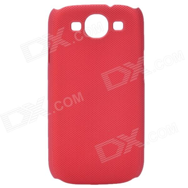 Fashion Pinhole Pattern Protective ABS Back Case for Samsung Galaxy S 3 i9300 - Red 8x zoom telescope lens with protective back case for samsung i9300 galaxy s iii black silver