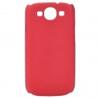 Fashion Pinhole Pattern Protective ABS Back Case for Samsung Galaxy S 3 i9300 - Red