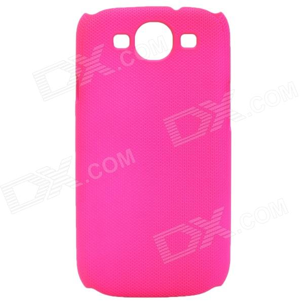 Fashion Pinhole Pattern Protective ABS Back Case for Samsung Galaxy S 3 i9300 - Deep Pink stylish bubble pattern protective silicone abs back case front frame case for iphone 4 4s
