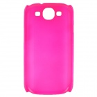 Fashion Pinhole Pattern Protective ABS Back Case for Samsung Galaxy S 3 i9300 - Deep Pink