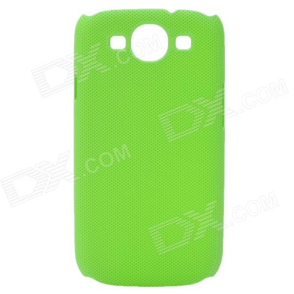Fashion Pinhole Pattern Protective ABS Back Case for Samsung Galaxy S 3 i9300 - Green dynamic 3d skull pattern protective back case for samsung galaxy s4 i9500 black