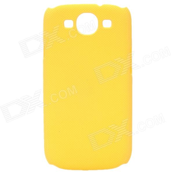 Fashion Pinhole Pattern Protective ABS Back Case for Samsung Galaxy S 3 i9300 - Yellow fashion pinhole pattern protective abs back case for samsung galaxy s 3 i9300 red