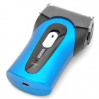 POVOS PS5302 Rechargeable Dual-Blade Reciprocating Electric Shaver - Black + Blue