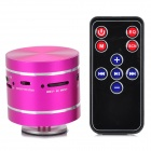 Portable MP3 Player Vibration Resonance Speaker w/ FM / TF / Remote Control - Deep Pink