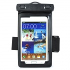General Waterproof Bag w/ Armband / Strap for Samsung Galaxy Note i9220 - Black